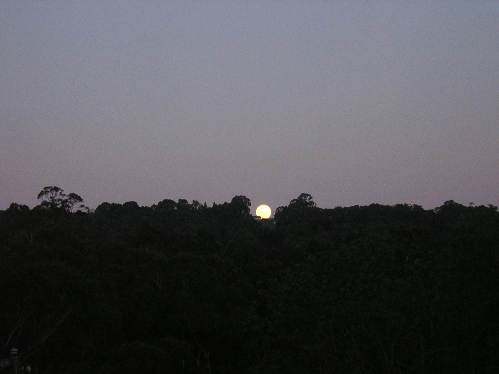 Moonrise over the firebreak